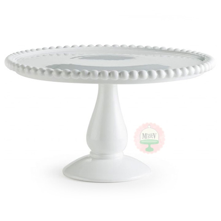 Beaded Edge Cake Stand Minted Minted And Vintage Dessert Stand