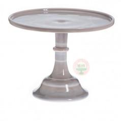 "10"" Grey Swirl Classic Cake Stand"