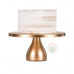 "12"" Modern Metal Cake Stand-Gold"