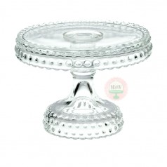 "6"" Clear Hobnail Cake Stand"