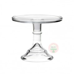 "6"" Clear Classic Cake Stand"