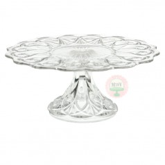 Antique Crystal Stars Cake Stand