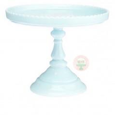 """9"""" Bon Bon Scalloped Cake Stand-Cotton Candy Blue"""