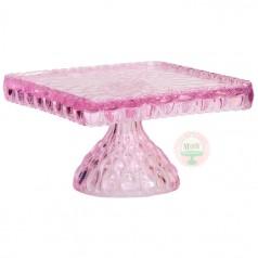 """10"""" Elizabeth Cake Stand-Bubblegum Pink"""