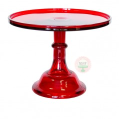"10"" Candy Apple Red Classic Cake Stand"