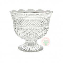 Diamond Pattern Scalloped Compote