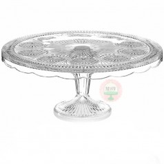 Florentine Cake Stand-Crystal