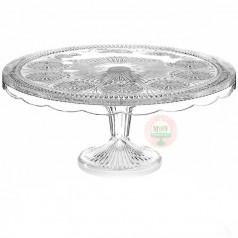 Florentine Cake Stand-Crystal