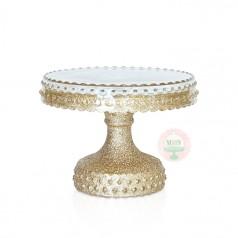 "6"" Gold Glittered Cake Stand"