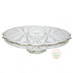 Gilded Crystal Cake Stand