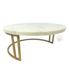 "13"" Marble & Gold Frame Cake Stand"