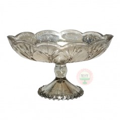 Mercury Glass Compote