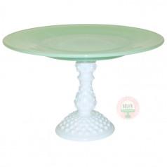 """10"""" Mint & Vintage Hobnail Pedestal"""