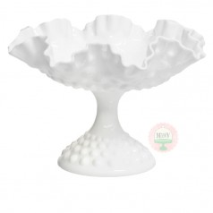 Flared & Fluted Oversized Hobnail Compote