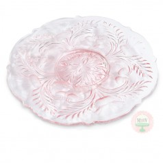 "12"" Sweet Pink Thistle Cake Plate"