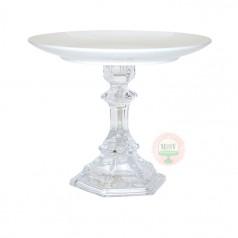 Porcelain & Crystal Pedestal