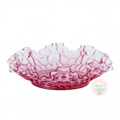 Flared & Fluted Thumbprint Raspberry Bon Bon Dish