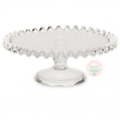 Clear Ruffled Cake Stand