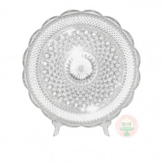 "14"" Scalloped Edge Cupped Cake Plate"
