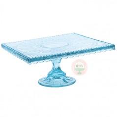 Aqua Blue Square Cake Stand