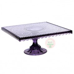Amethyst Square Cake Stand