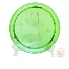 Vintage Green Sunflower Plate
