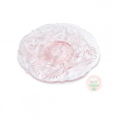 "7"" Sweet Pink Thistle Dessert Plate"