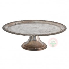 Tarnished Silver Cake Stand