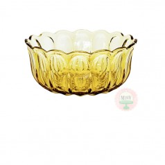 Vintage Yellow Thumbprint Bowl
