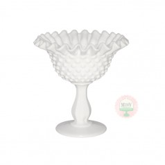 Ruffled Edge Hobnail Compote