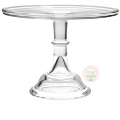"""12"""" Clear Classic Cake Stand"""