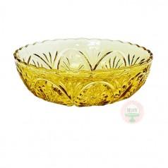 Starburst Amber Bowl