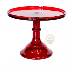 """9"""" Candy Apple Red Classic Cake Stand"""