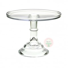 """9"""" Clear Classic Cake Stand"""
