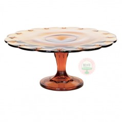 Teardrop Amber Cake Stand