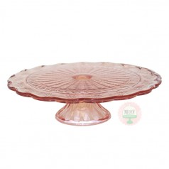 Depression Pink Cake Stand