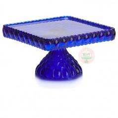 cobalt blue cake stand