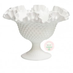 Flared & Fluted Hobnail Compote- Large