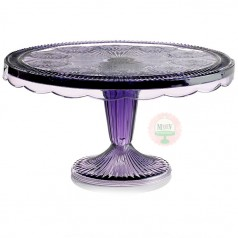 amethyst cake stand