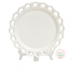 Round Lace Edge Cake Plate