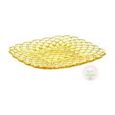 L.E. Smith Glass Yellow Trellis Plate