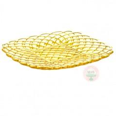 Yellow Trellis Cake Plate