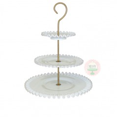 Ruffled Edge Dessert Stand 3 tier