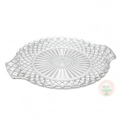 "9"" Diamond Pattern Plate with Handles"