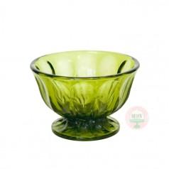 Vintage avocado green bowl
