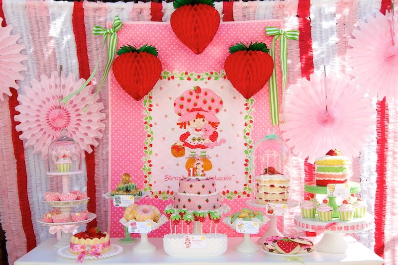 Vintage Strawberry Shortcake 1st Birthday Party | Minted and ...