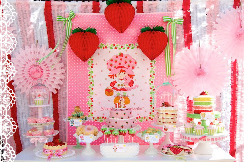 strawberry short cake birthday party