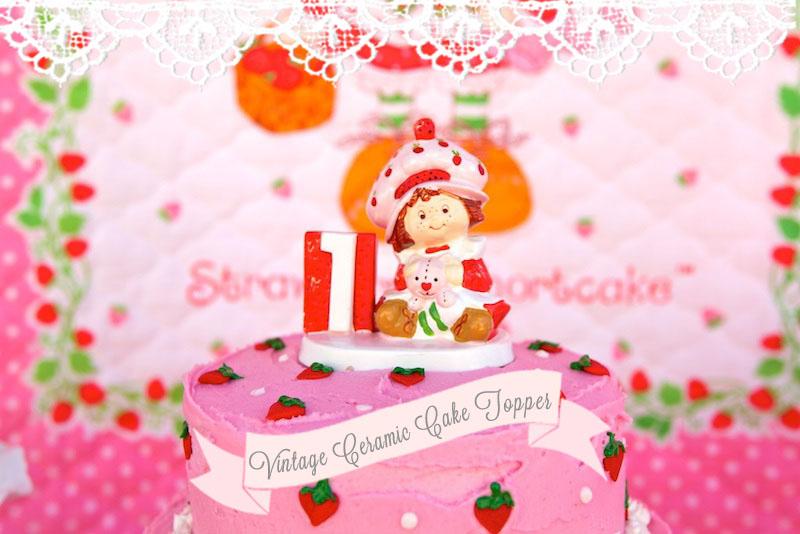 Vintage Strawberry Shortcake 1st Birthday Party – Strawberry Shortcake Birthday Card