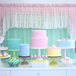 Minted and Vintage Styled Dessert Table
