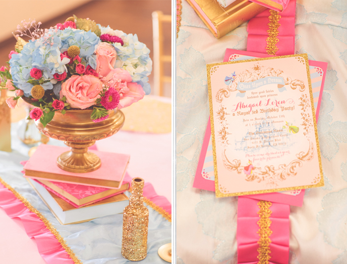 Pt. 1 Vintage Sleeping Beauty Inspired Birthday Party by Minted and Vintage | Dessert Stand ...